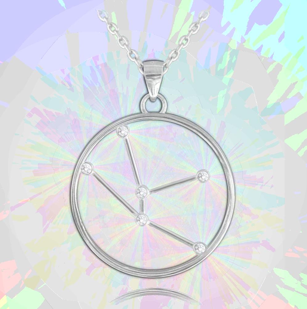 MINET Stříbrný náhrdelník MINET Stars znamení BÝK Czech Crystal JMAS9505SN45