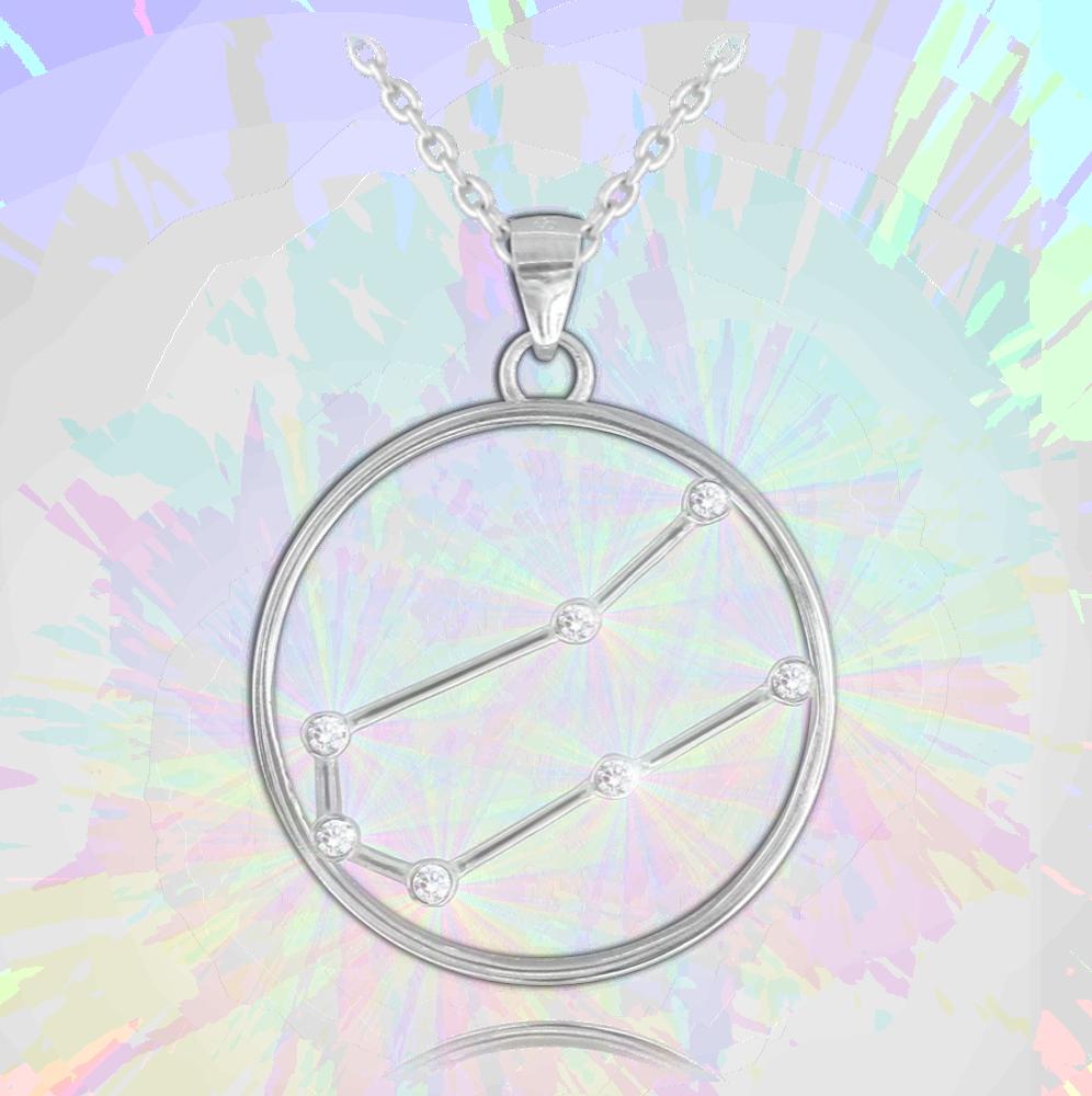 Stříbrný náhrdelník MINET Stars BLÍŽENCI Czech Crystal