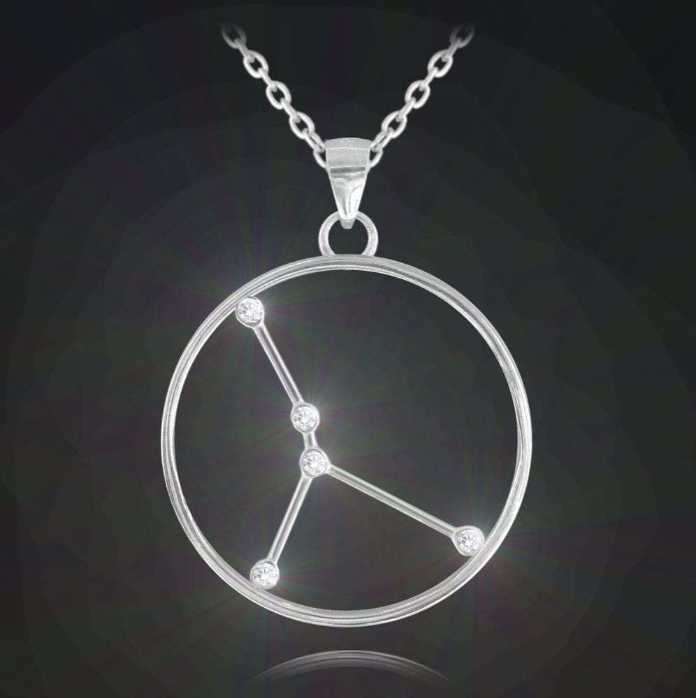 Stříbrný náhrdelník MINET Stars znamení RAK Czech Crystal