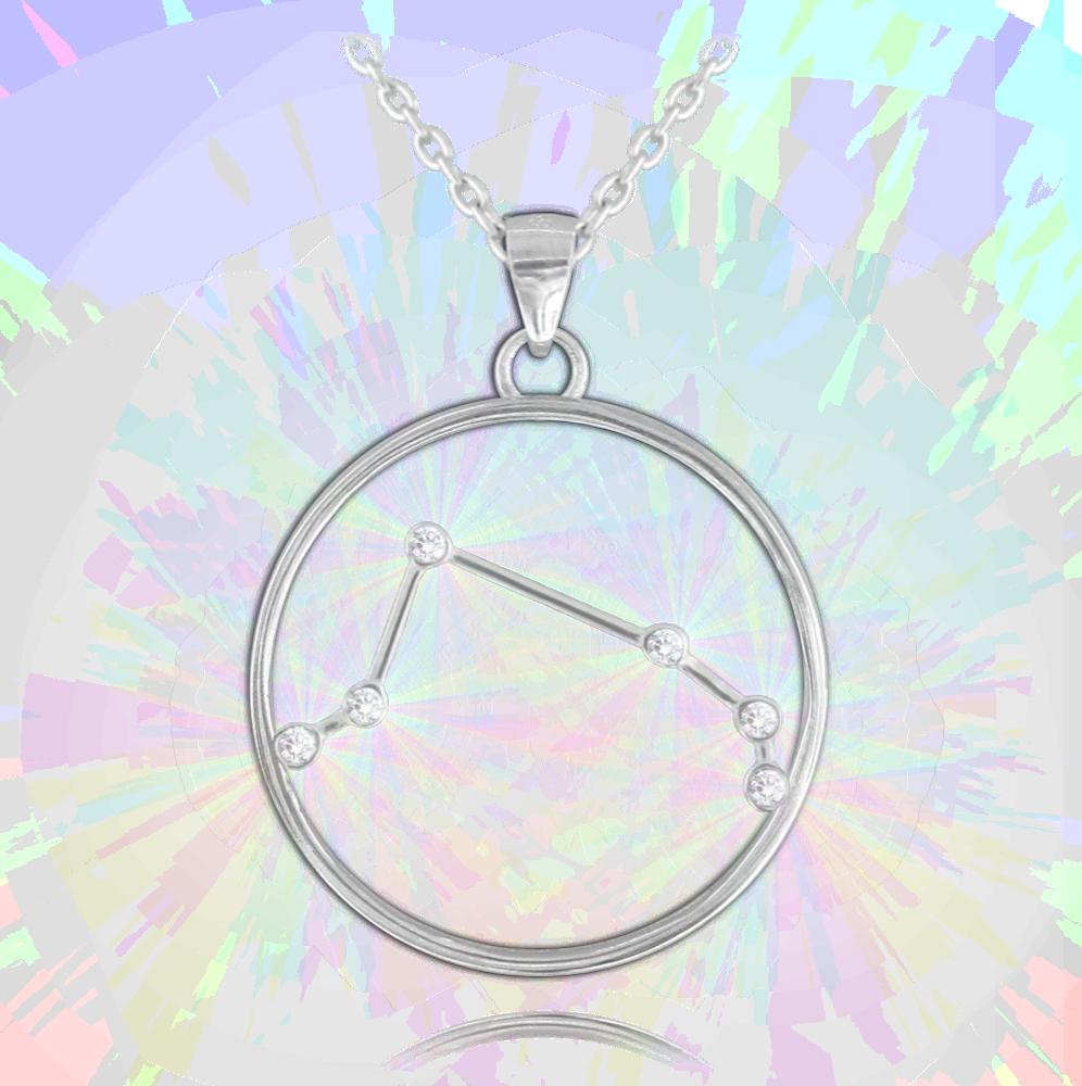 MINET Stříbrný náhrdelník MINET Stars znamení BERAN Czech Crystal JMAS9504SN45