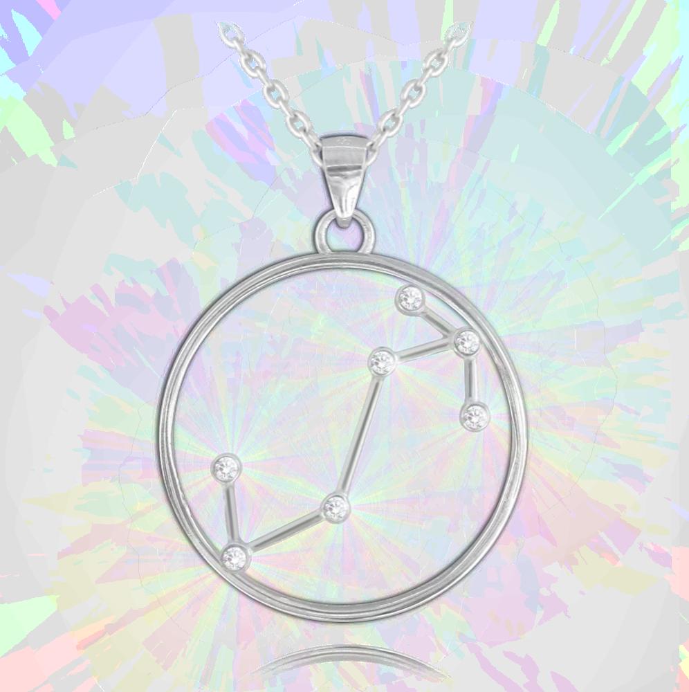 MINET Stříbrný náhrdelník MINET Stars znamení ŠTÍR Czech Crystal JMAS9511SN45