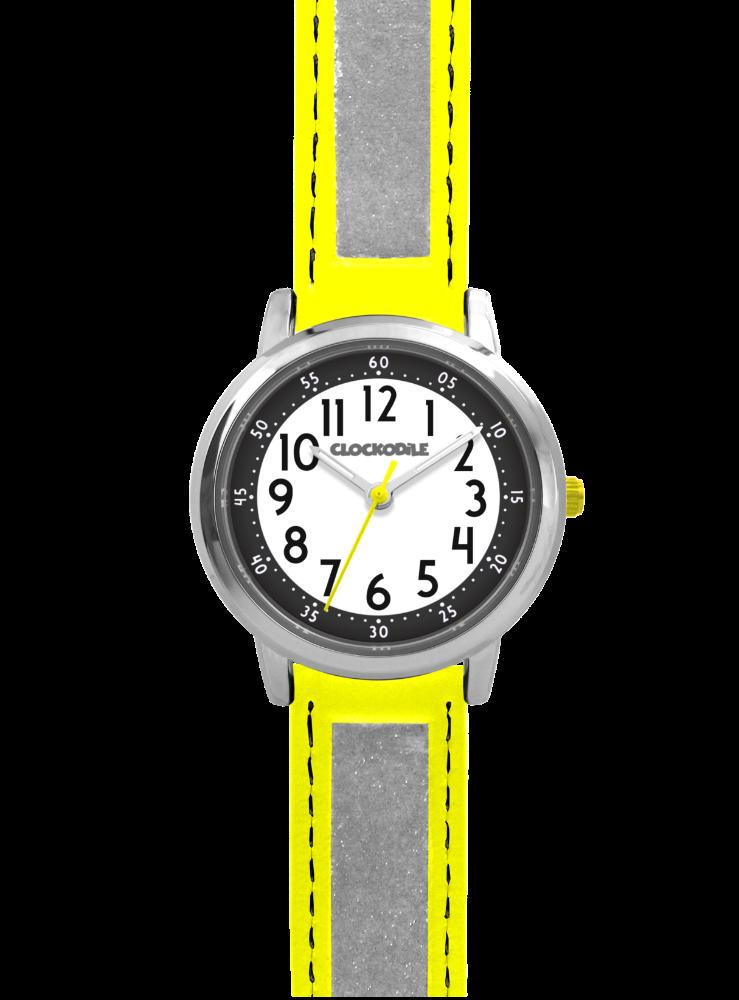 Žluté reflexní dětské dětské hodinky CLOCKODILE REFLEX