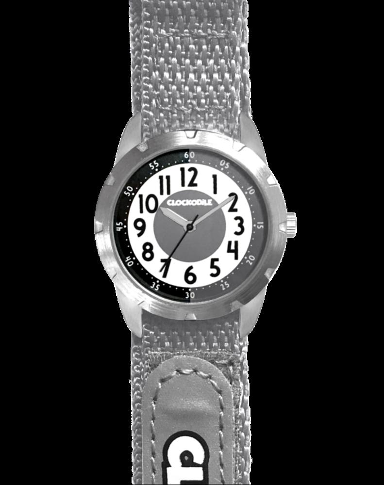 CLOCKODILE Šedé reflexní dětské hodinky na suchý zip CLOCKODILE REFLEX CWX0022
