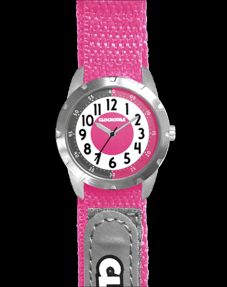 CLOCKODILE Růžové reflexní dětské hodinky na suchý zip CLOCKODILE REFLEX CWX0024