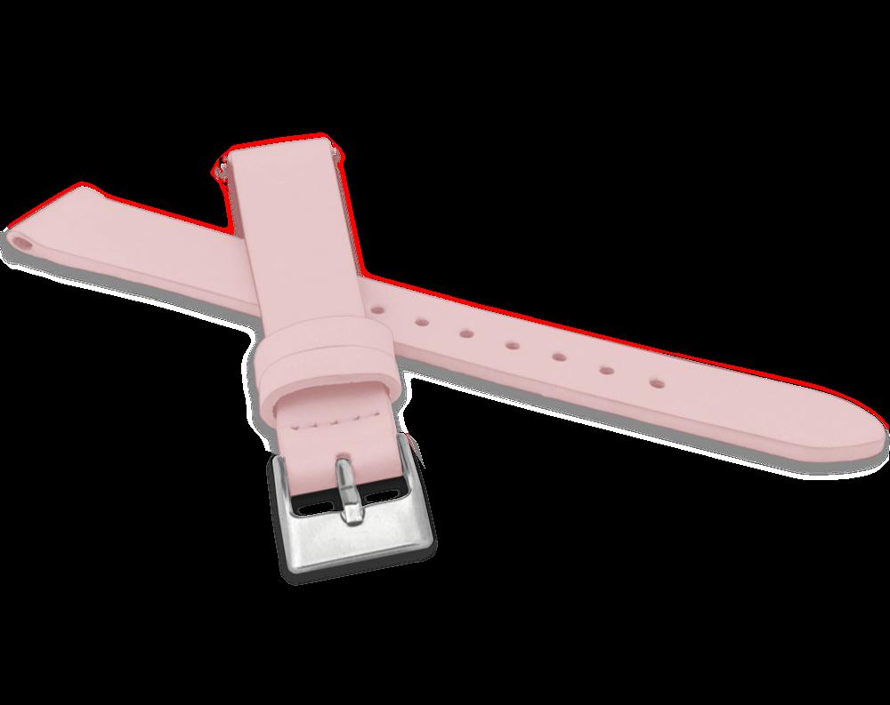 MINET Růžový řemínek MINET z luxusní kůže Top Grain - 16 MSSUP16
