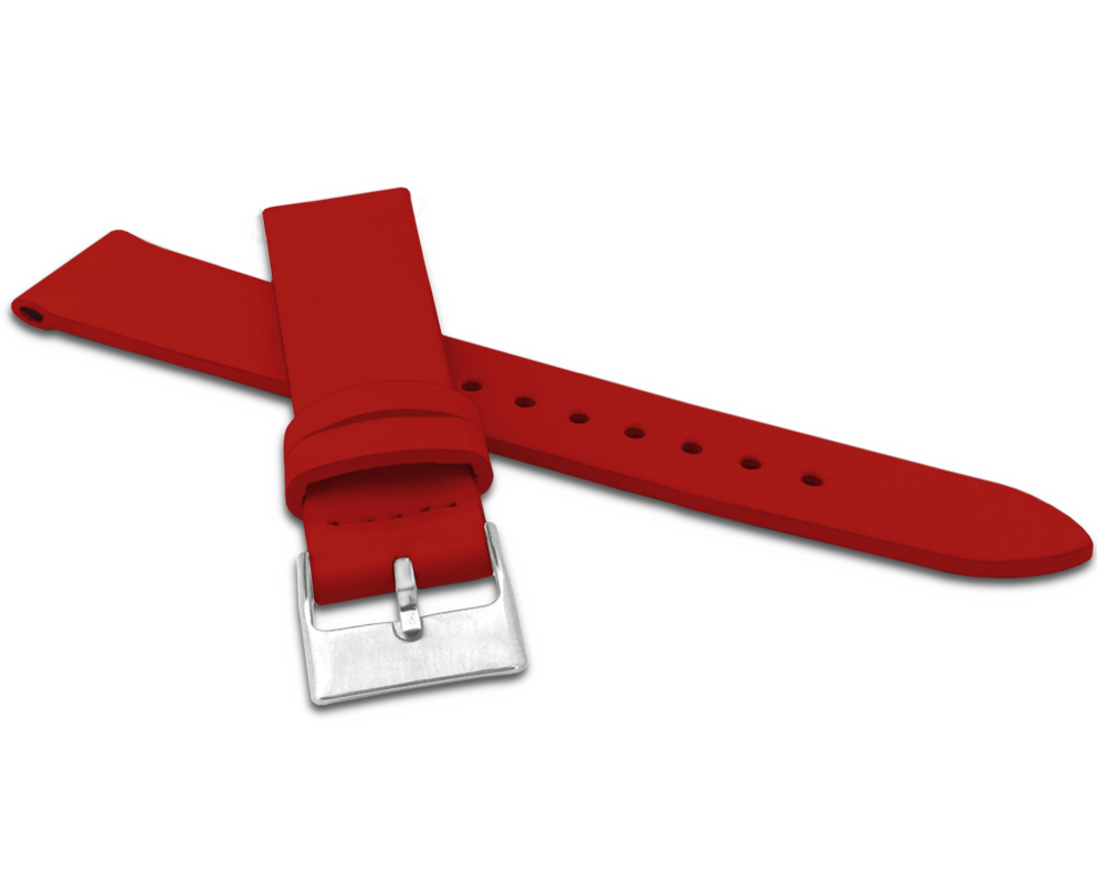 MINET Červený řemínek MINET z luxusní kůže Top Grain - 20 MSSUR20
