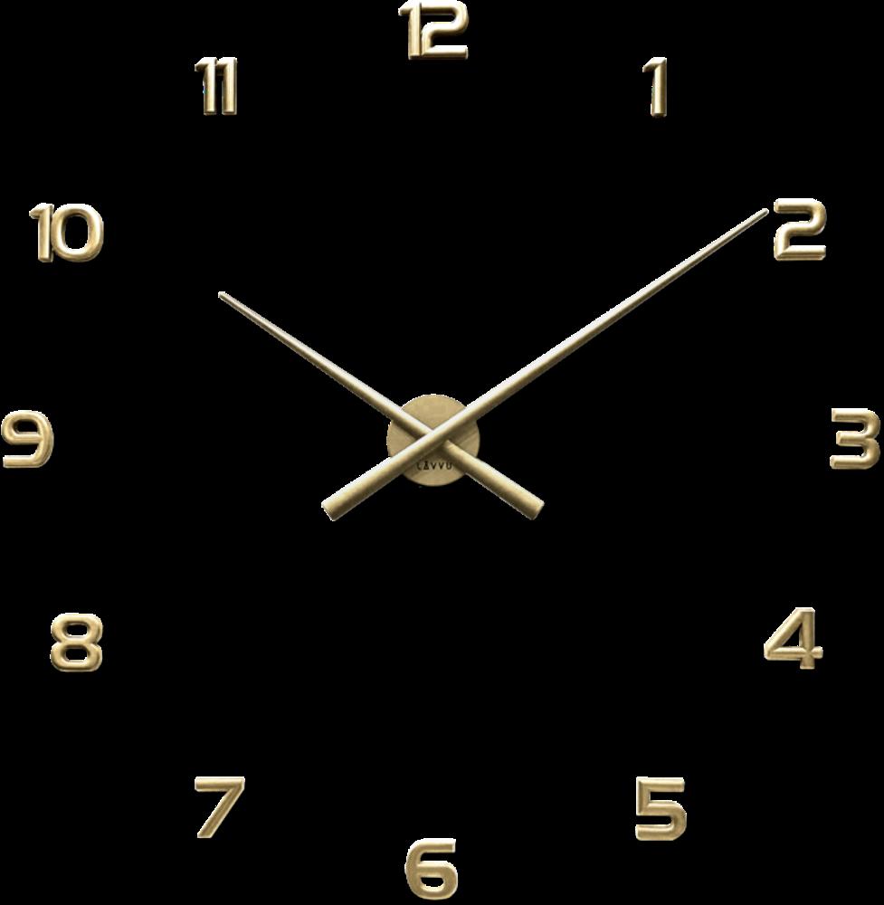 LAVVU Zlaté nalepovací hodiny LAVVU 3D STICKER Gold Numerals LCT1174