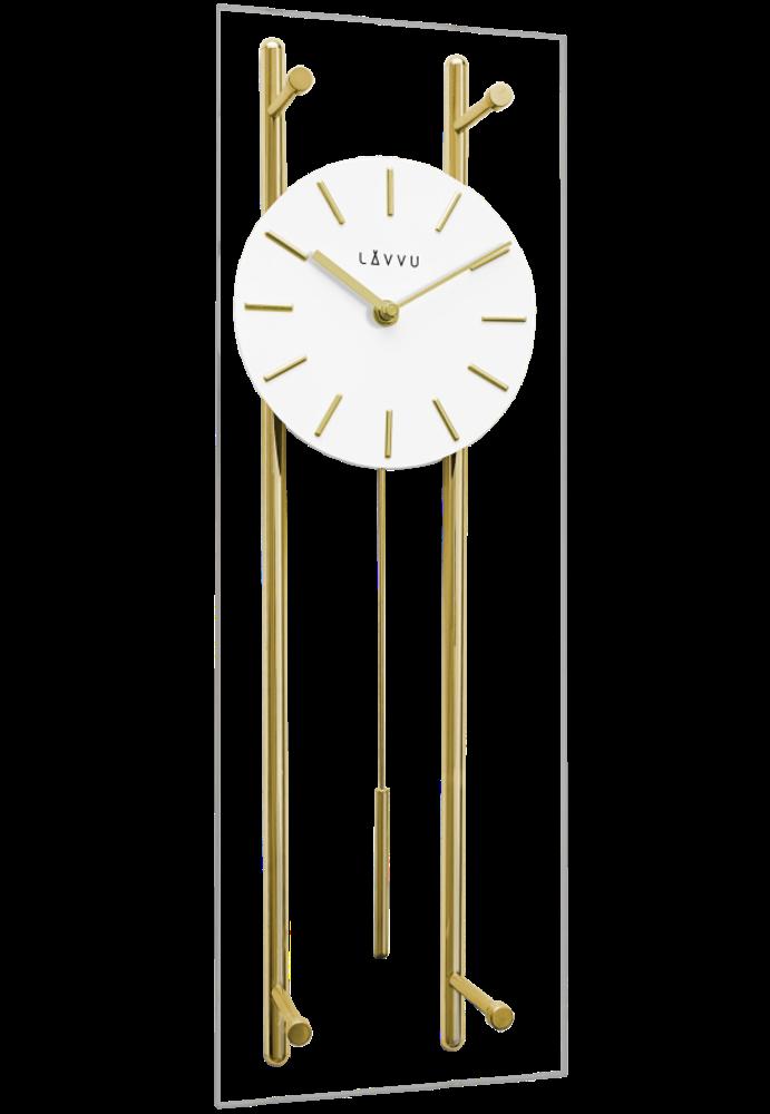 Zlaté skleněné kyvadlové hodiny LAVVU PENDULUM