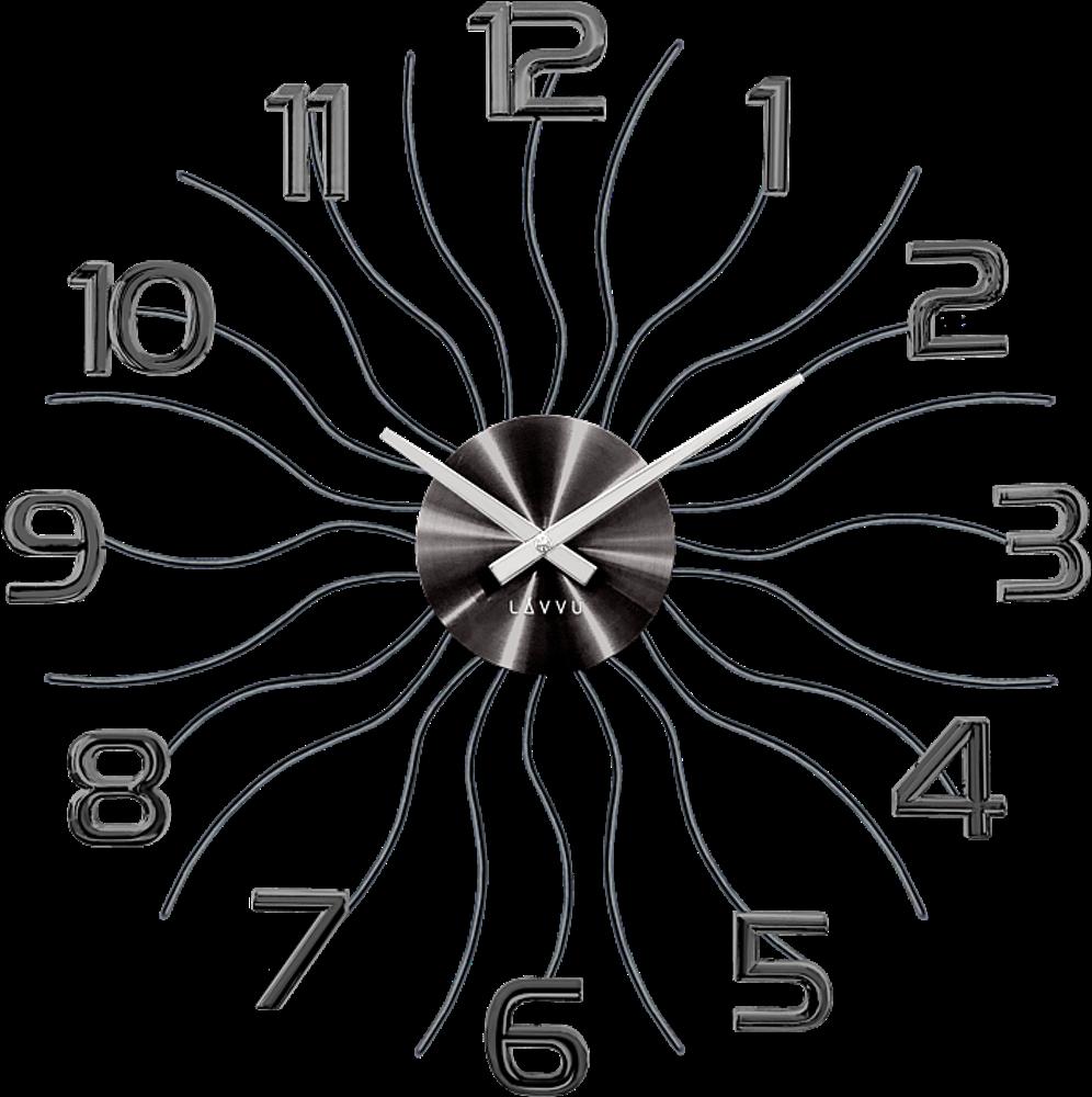 LAVVU Černé antracitové hodiny LAVVU SUN LCT1222