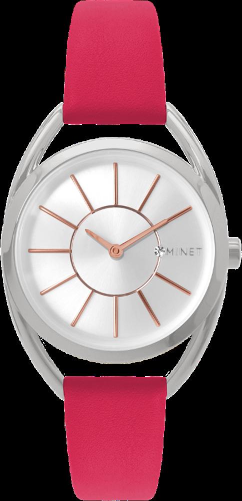 Růžové dámské hodinky MINET ICON RASPBERRY FEVER