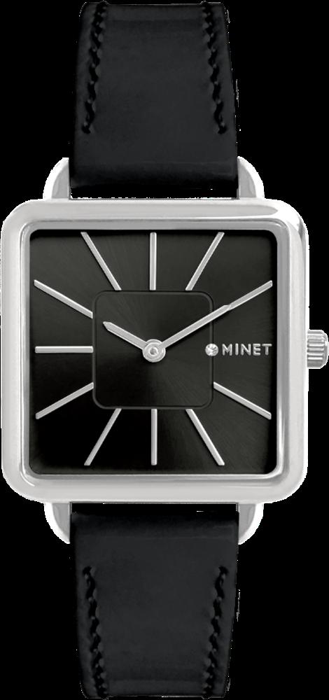 Černé dámské hodinky MINET OXFORD BLACK GLAMOUR