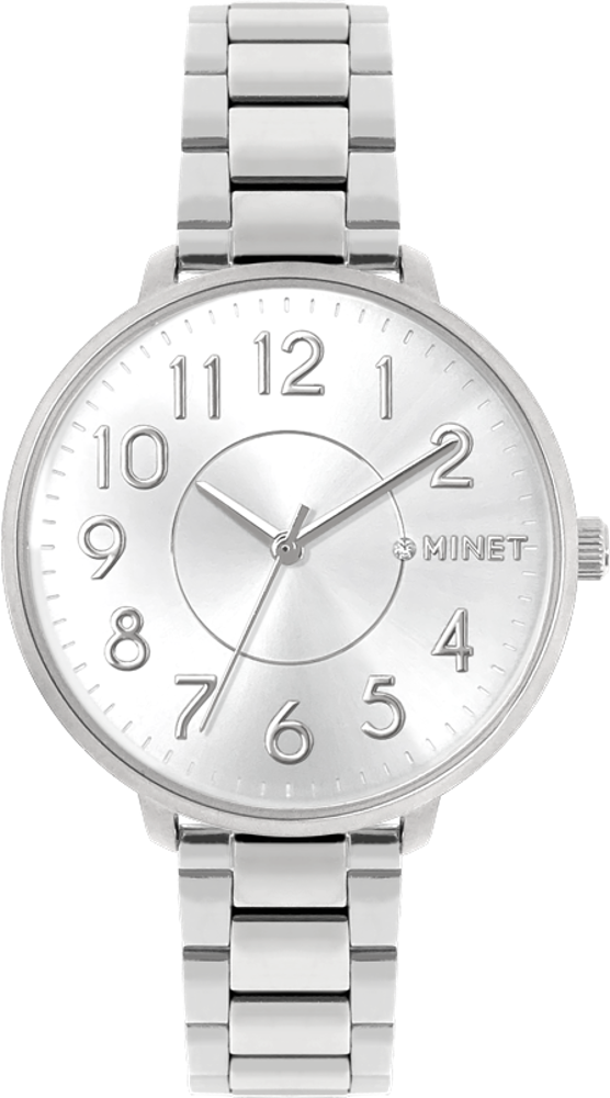Stříbrné dámské hodinky MINET PRAGUE Pure Silver