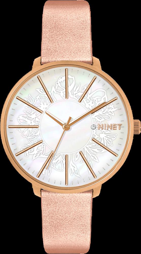 Rose gold dámské hodinky MINET PRAGUE Rose Flower