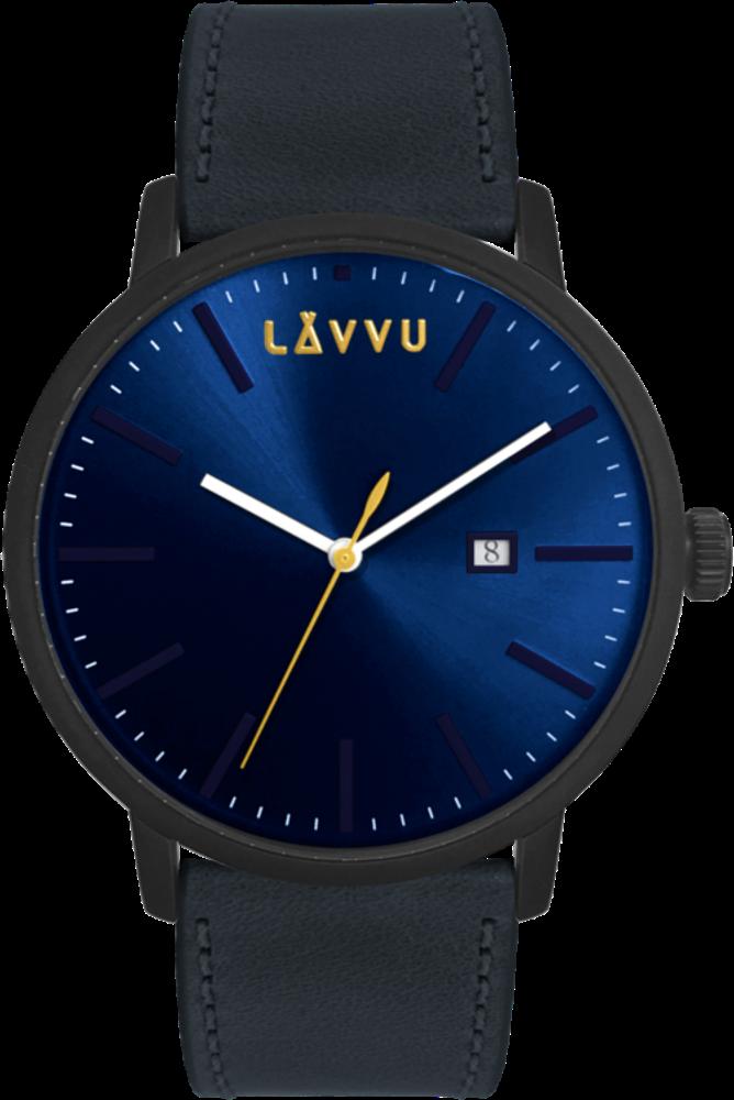 Modré pánské hodinky LAVVU COPENHAGEN POLO BLUE
