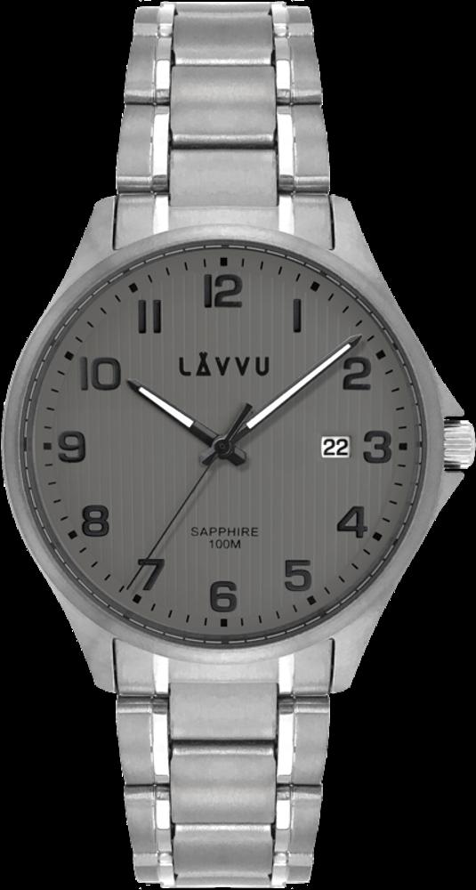 LAVVU Titanové hodinky se safírovým sklem LAVVU TITANIUM LILLEHAMMER Gray LWM0152