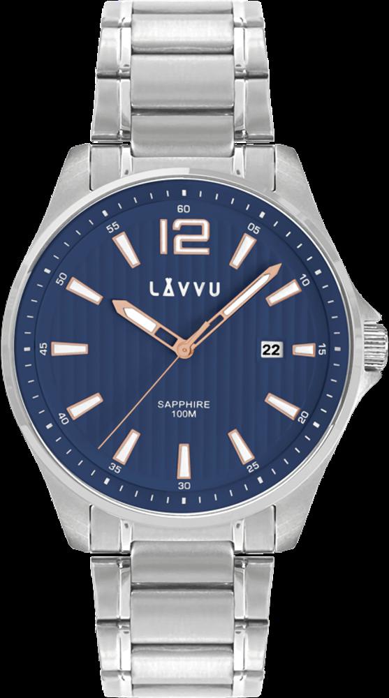 Pánské hodinky se safírovým sklem LAVVU NORDKAPP Blue