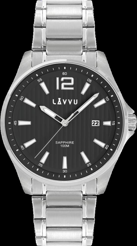 Pánské hodinky se safírovým sklem LAVVU NORDKAPP Black