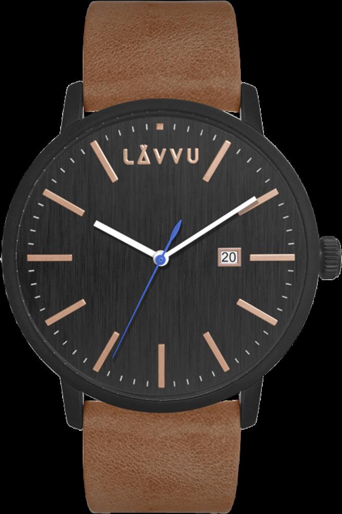 LAVVU Černo-hnědé pánské hodinky LAVVU COPENHAGEN LWM0171