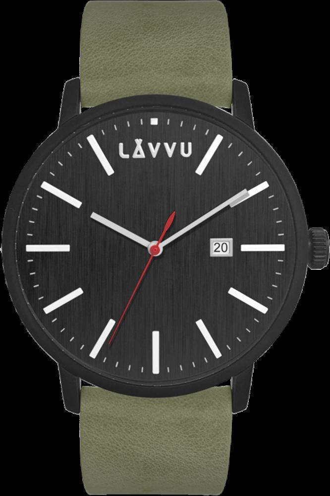 Černo-zelené pánské hodinky LAVVU COPENHAGEN