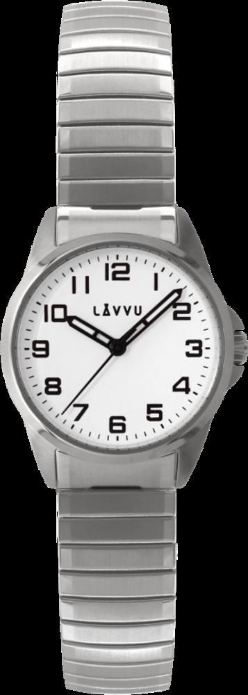 Dámské pružné hodinky LAVVU STOCKHOLM Small White
