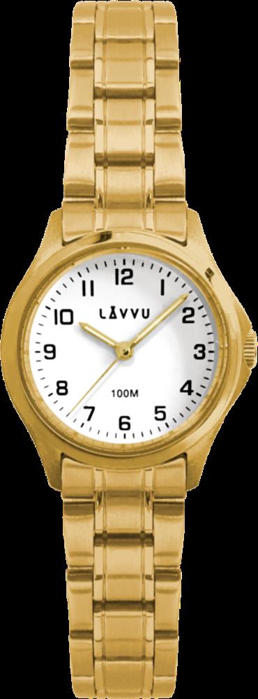 LAVVU Dámské hodinky LAVVU ARENDAL Original Gold s vodotěsností 100M LWL5023