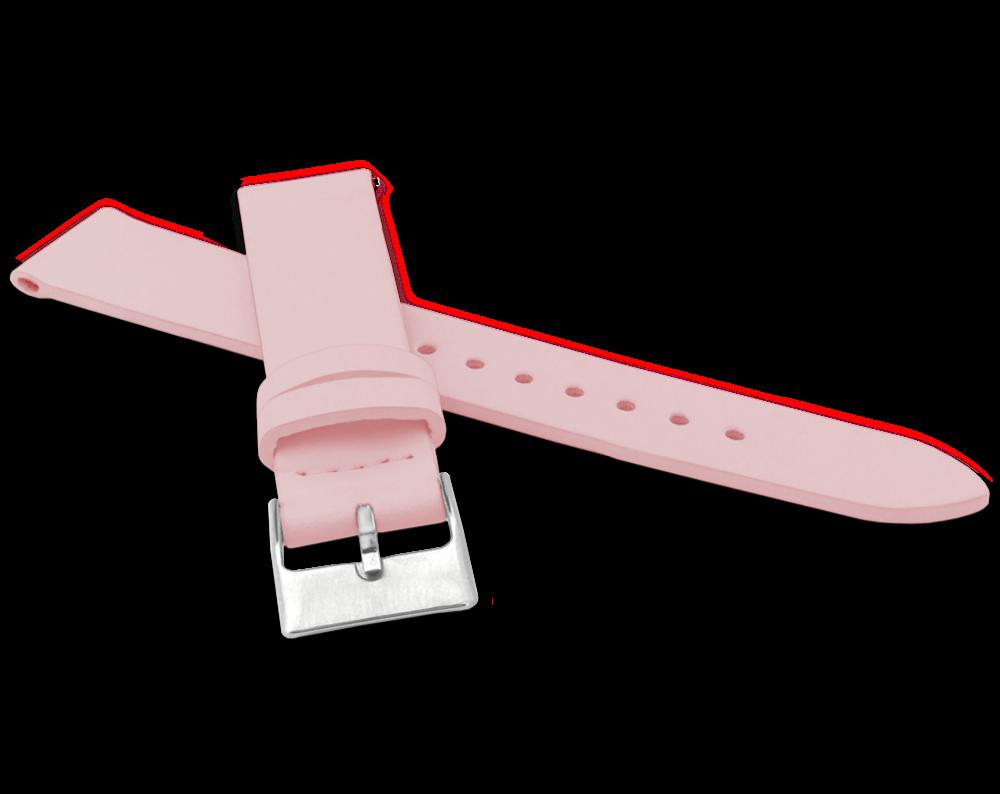 MINET Růžový řemínek MINET z luxusní kůže Top Grain - 22 MSSUP22