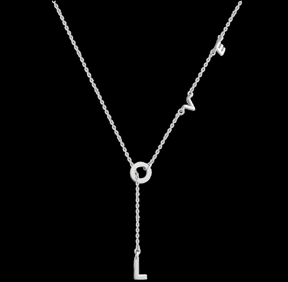 MINET Stříbrný náhrdelník MINET LOVE JMAN0213SN45