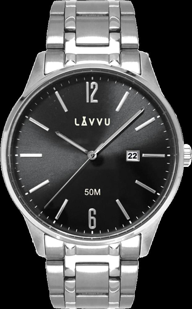 Elegantní pánské hodinky LAVVU KARLSTAD Black