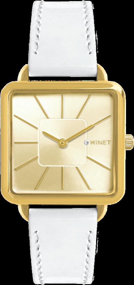 Bílé dámské hodinky MINET OXFORD SPOTLIGHT WHITE