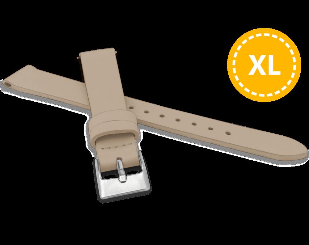 MINET XL Prodloužený béžový řemínek MINET z luxusní kůže Top Grain - 16 - XL MSSXC16