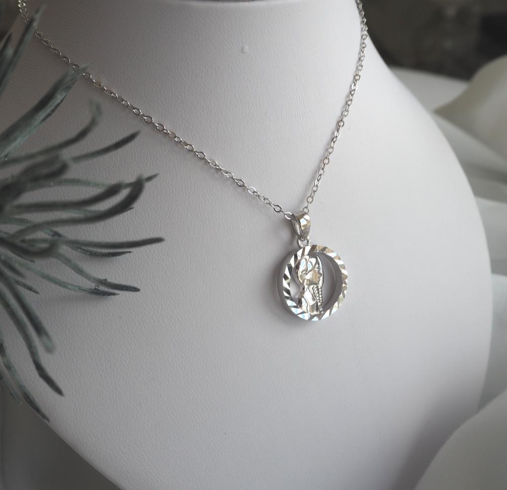 Stříbrný náhrdelník MINET Zodiac znamení PANNA