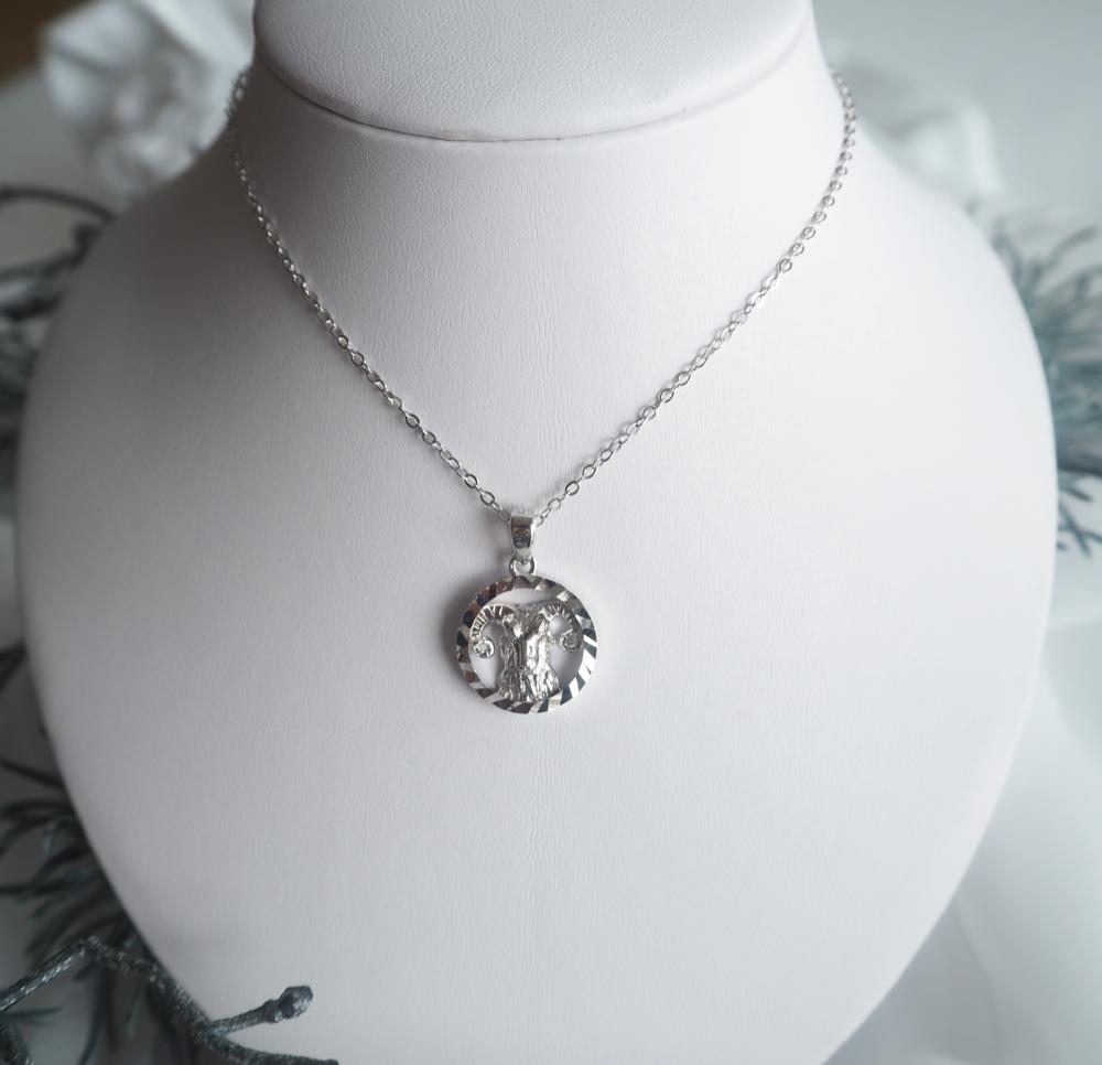 Stříbrný náhrdelník MINET Zodiac znamení BERAN