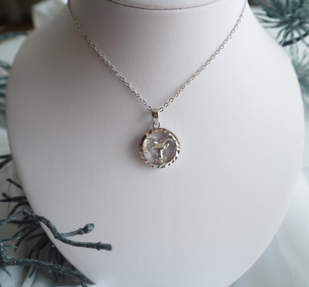 Stříbrný náhrdelník MINET Zodiac znamení KOZOROH