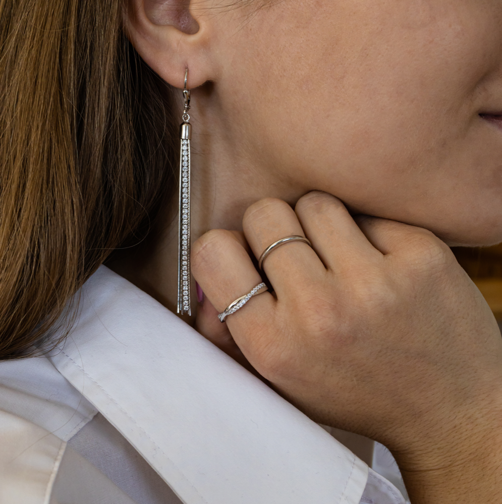 Minimalistický stříbrný prsten MINET vel. 59