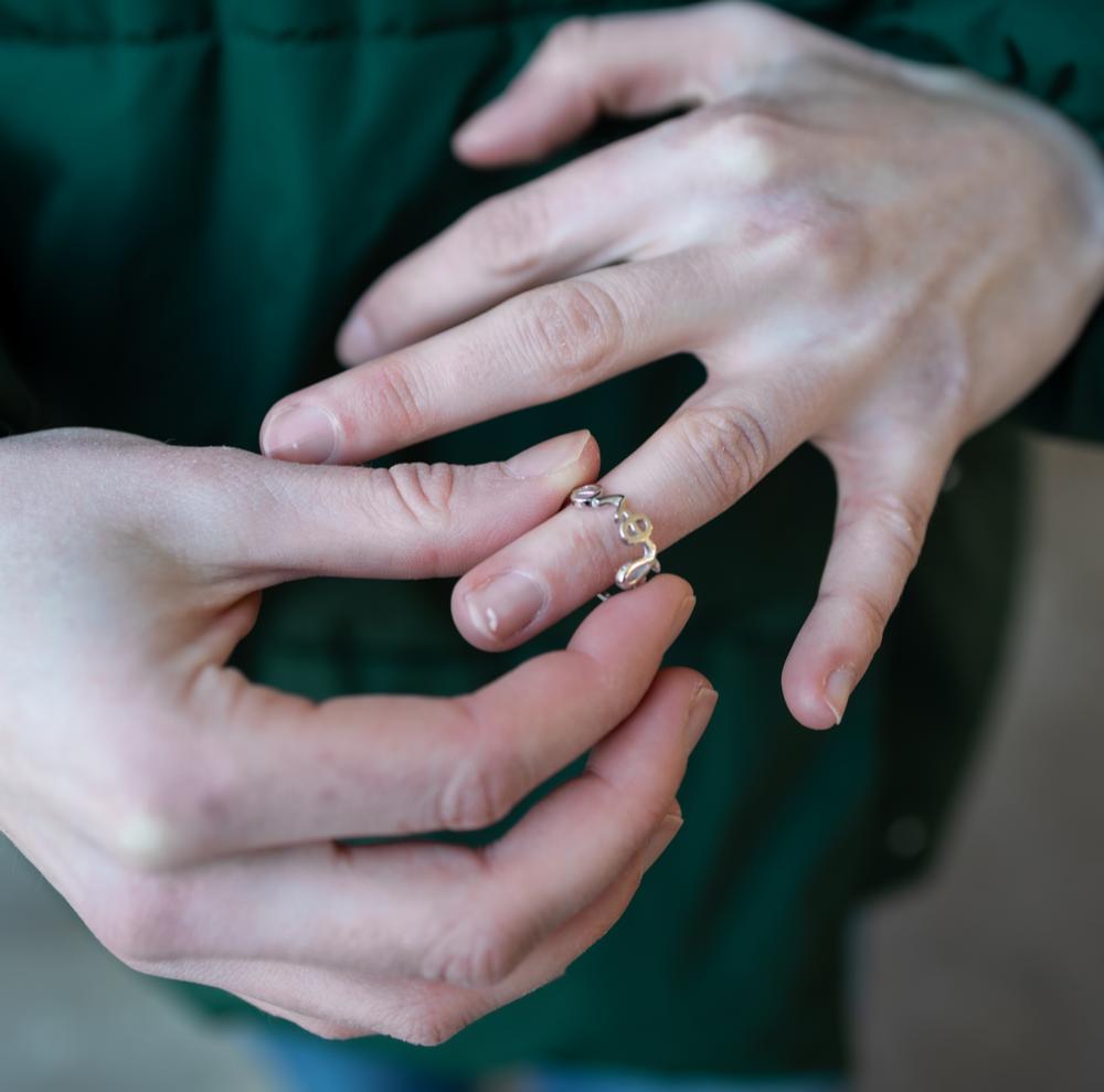 Stříbrný prsten MINET LOVE vel. 55