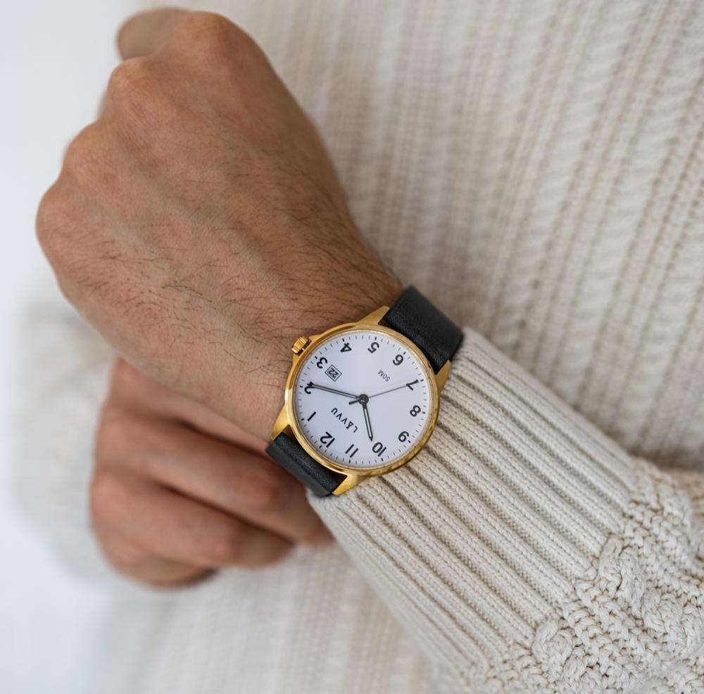 Modro-zlaté hodinky LAVVU GÖTEBORG