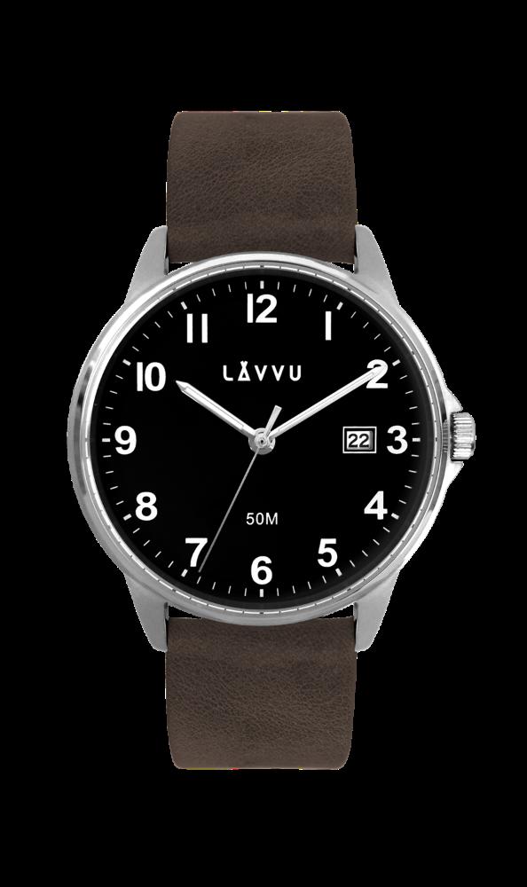 LAVVU Tmavě hnědé hodinky LAVVU GÖTEBORG LWM0112