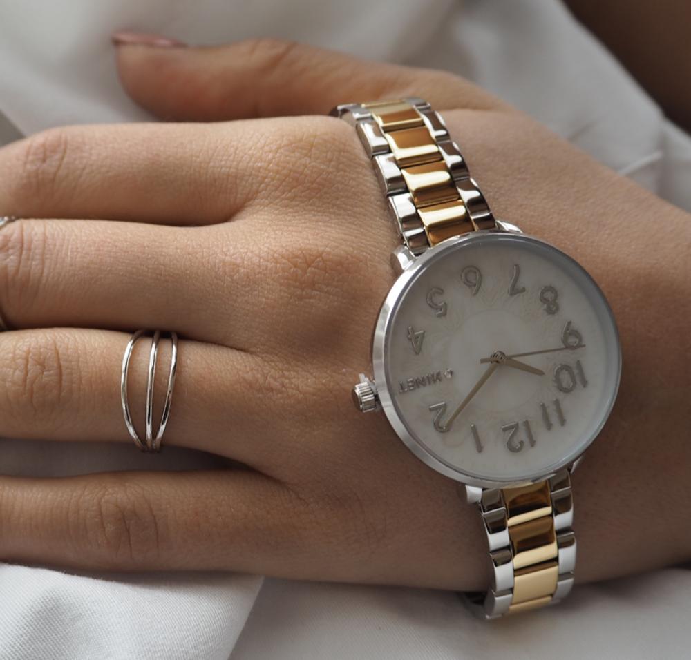 Trojitý stříbrný prsten MINET vel. 60