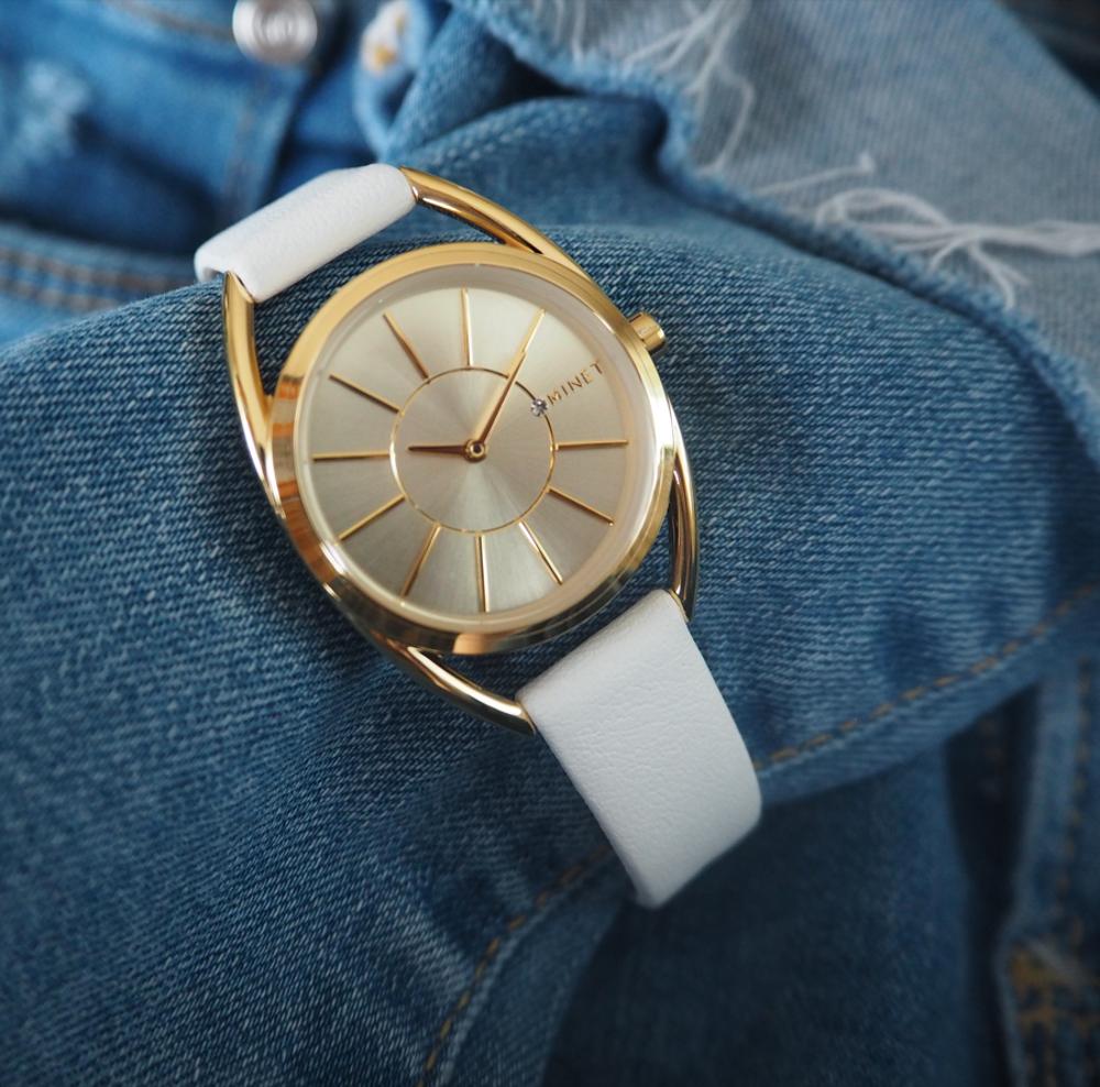 Bílé dámské hodinky MINET ICON HOLLYWOOD WHITE