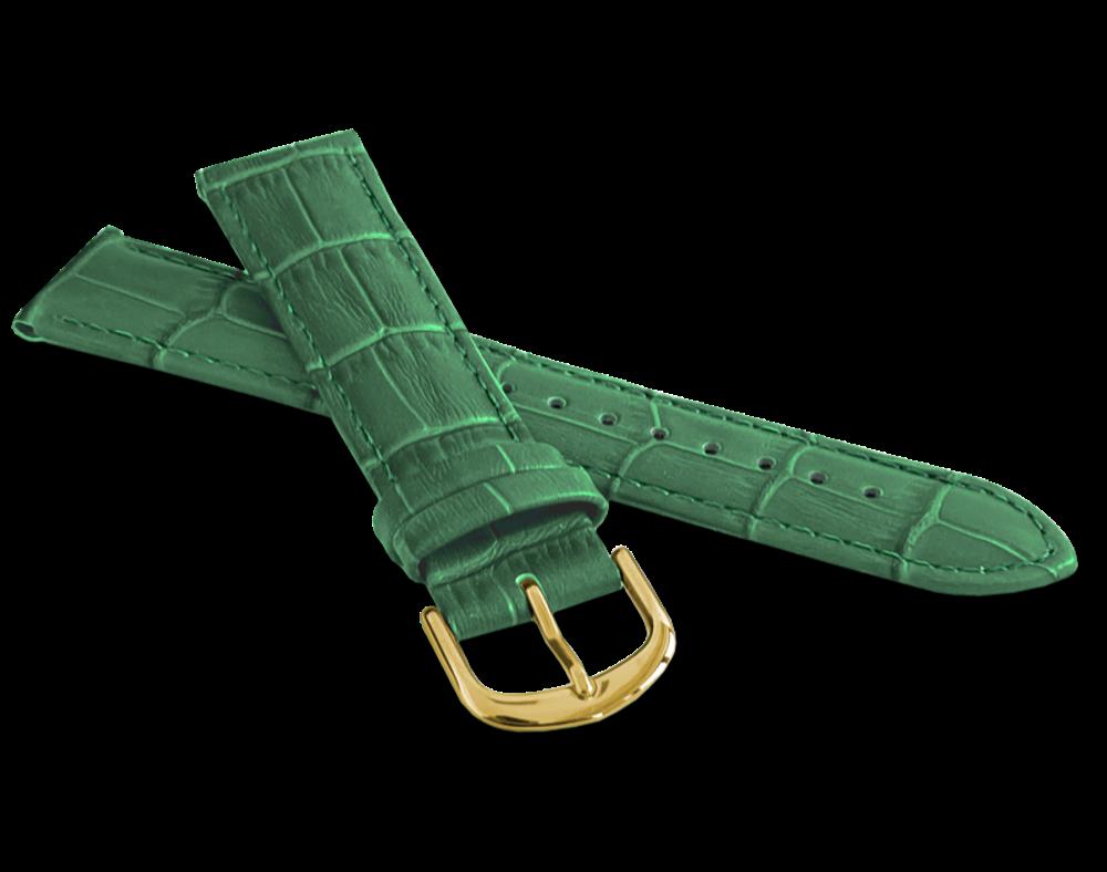 LAVVU Zelený prošitý řemínek LAVVU CROCO - 20 LSIUG20