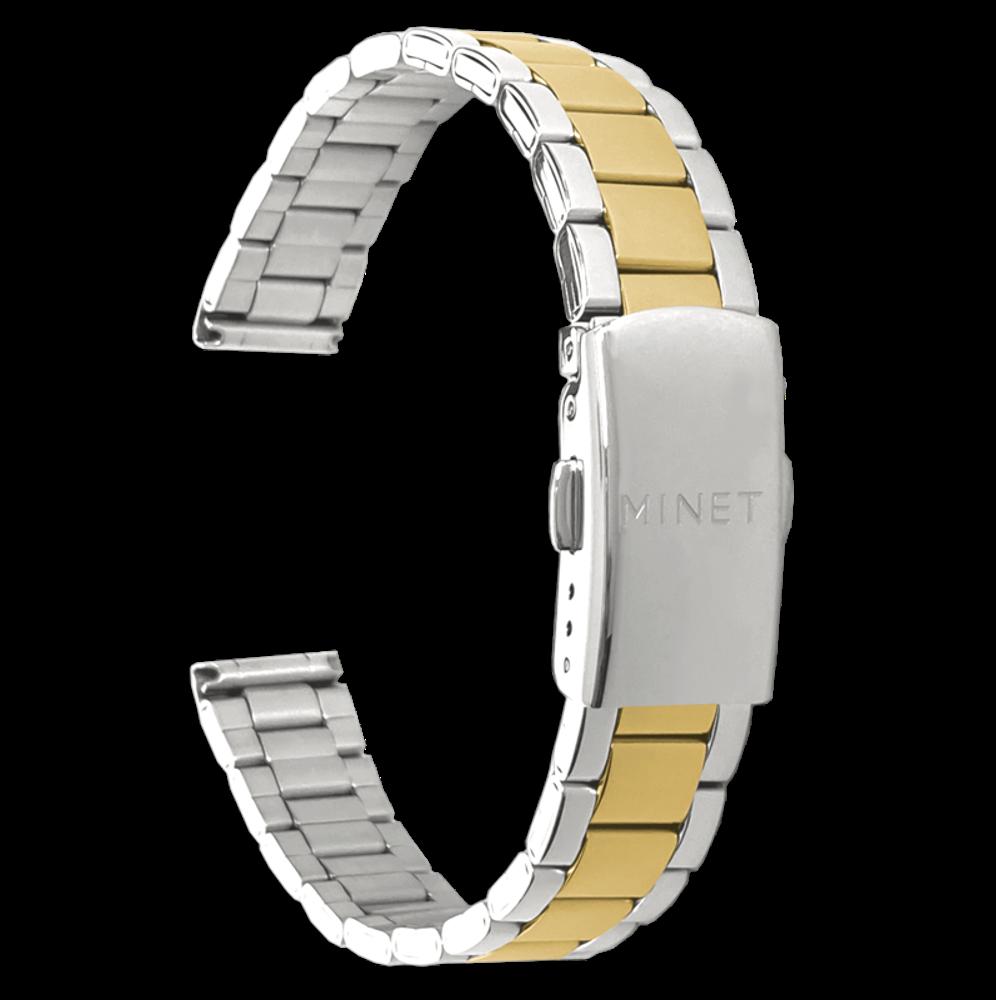 Stříbrno-zlatý kovový tah MINET Band Original Bicolor Silver & Gold - 14