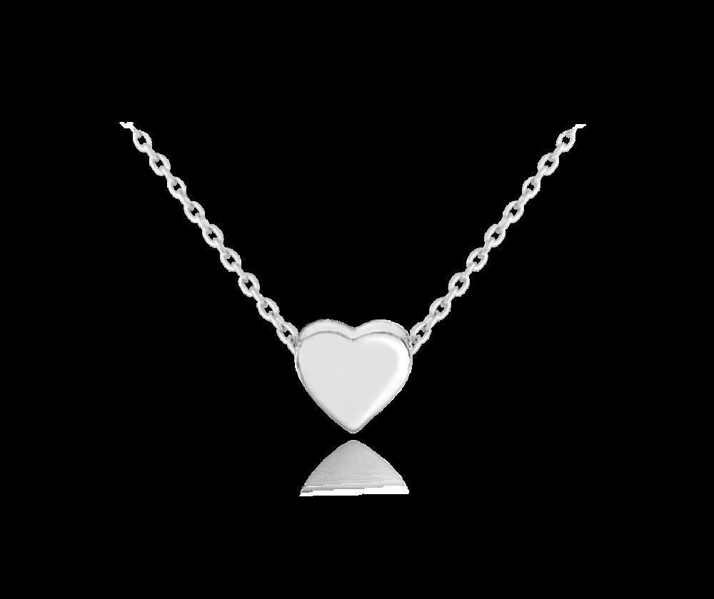 MINET Stříbrný náhrdelník MINET LOVE se srdíčkem JMAN0234SN45