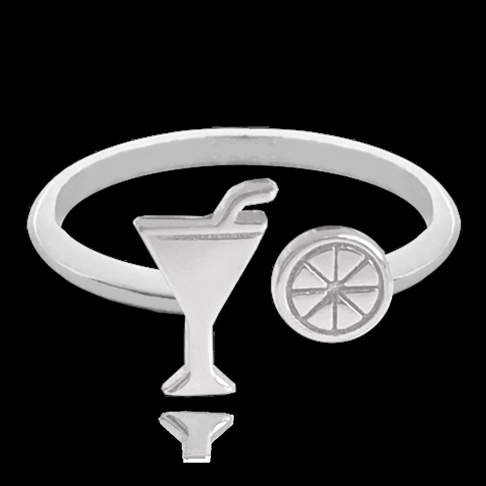 MINET Letní nastavitelný stříbrný prsten MINET