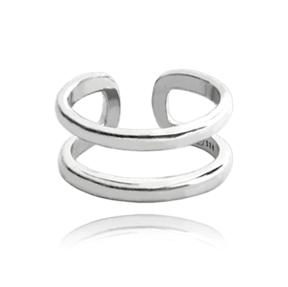 MINET Nastavitelný stříbrný prsten MINET na nohu vel. 40