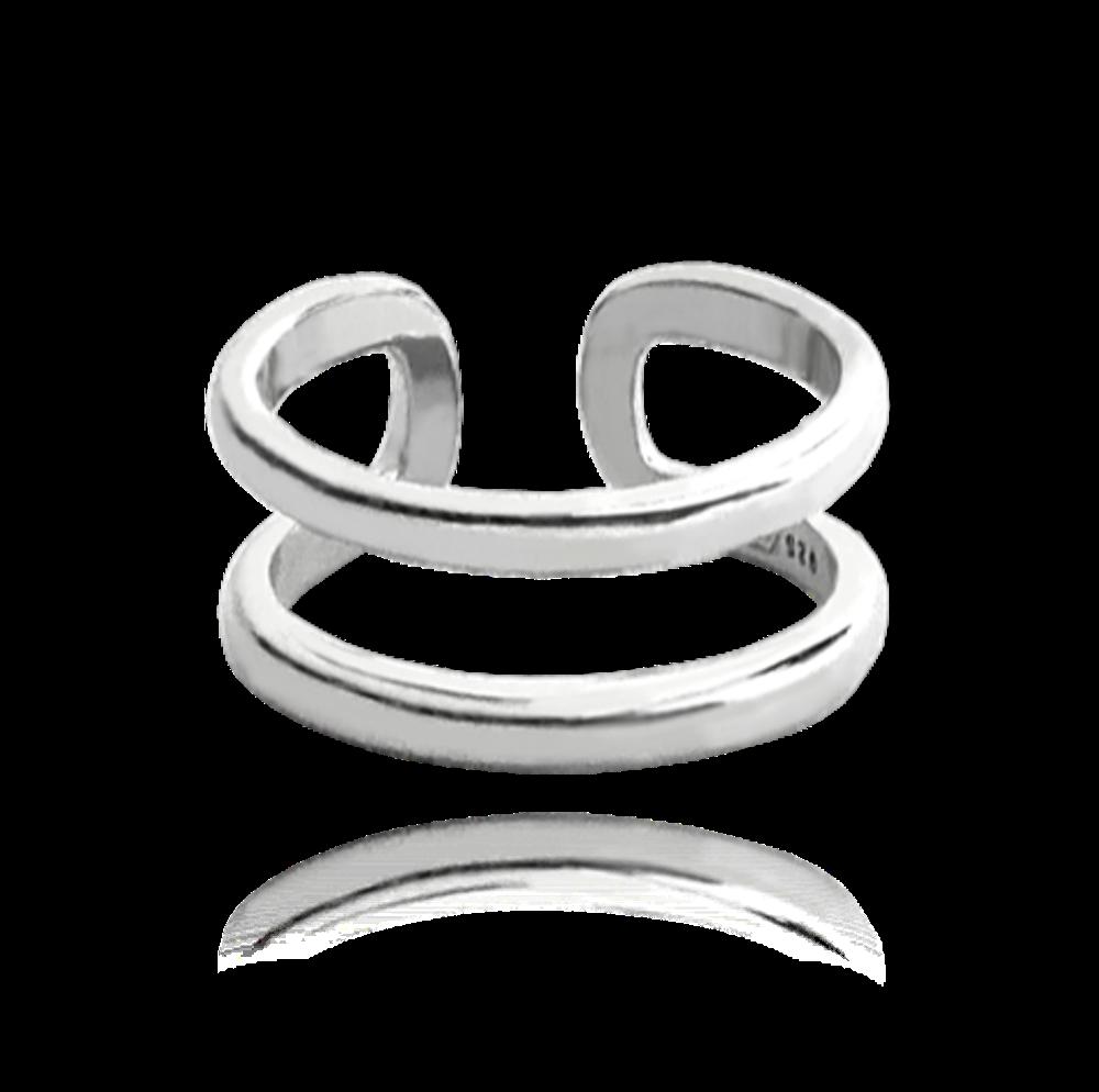 MINET Nastavitelný stříbrný prsten MINET na nohu vel. 44