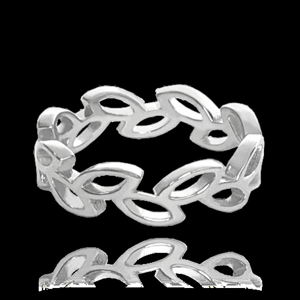 MINET Stříbrný prsten MINET LÍSTKY na nohu vel. 48