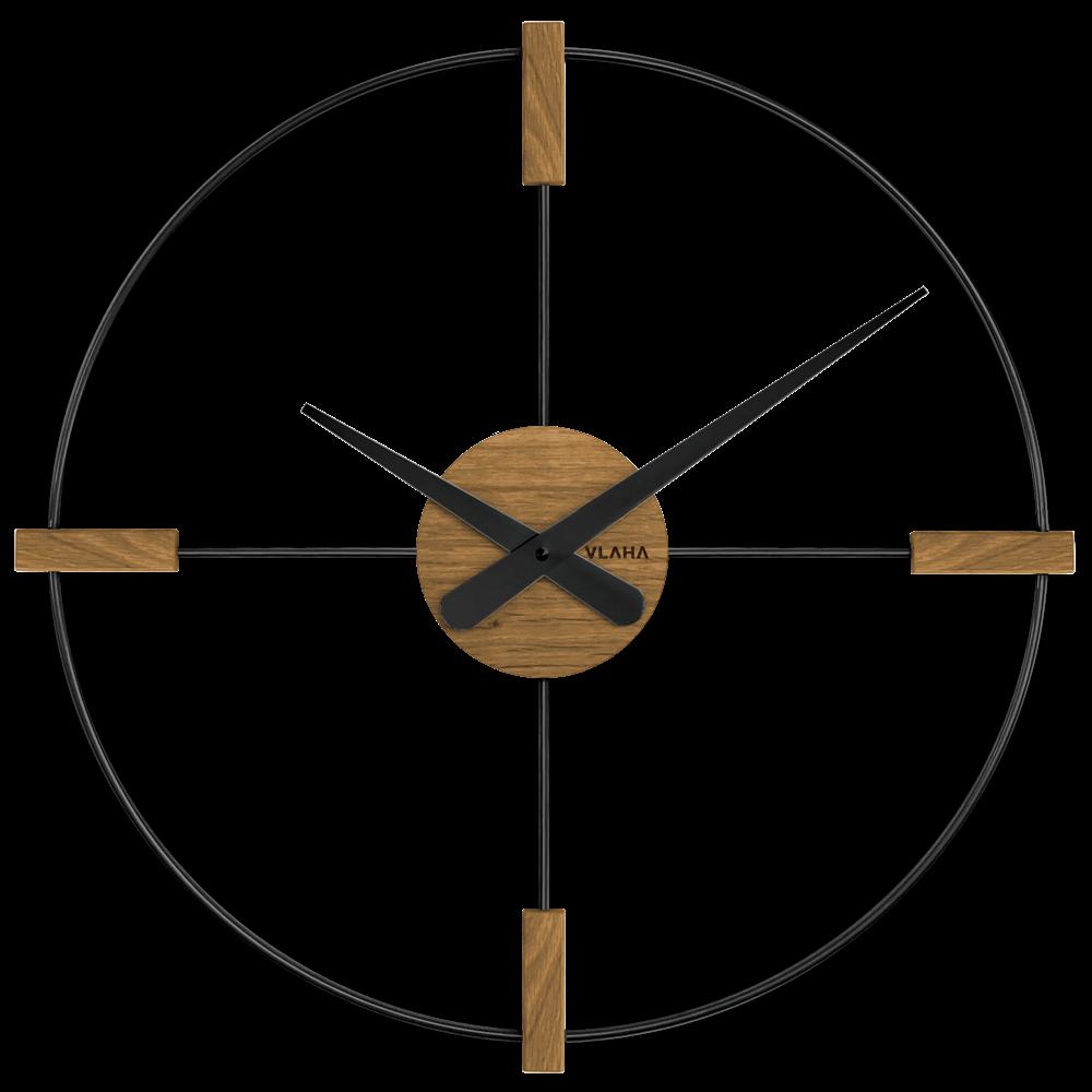 VLAHA Dřevěné černé hodiny VLAHA STUDIO vyrobené v Čechách VCT1052