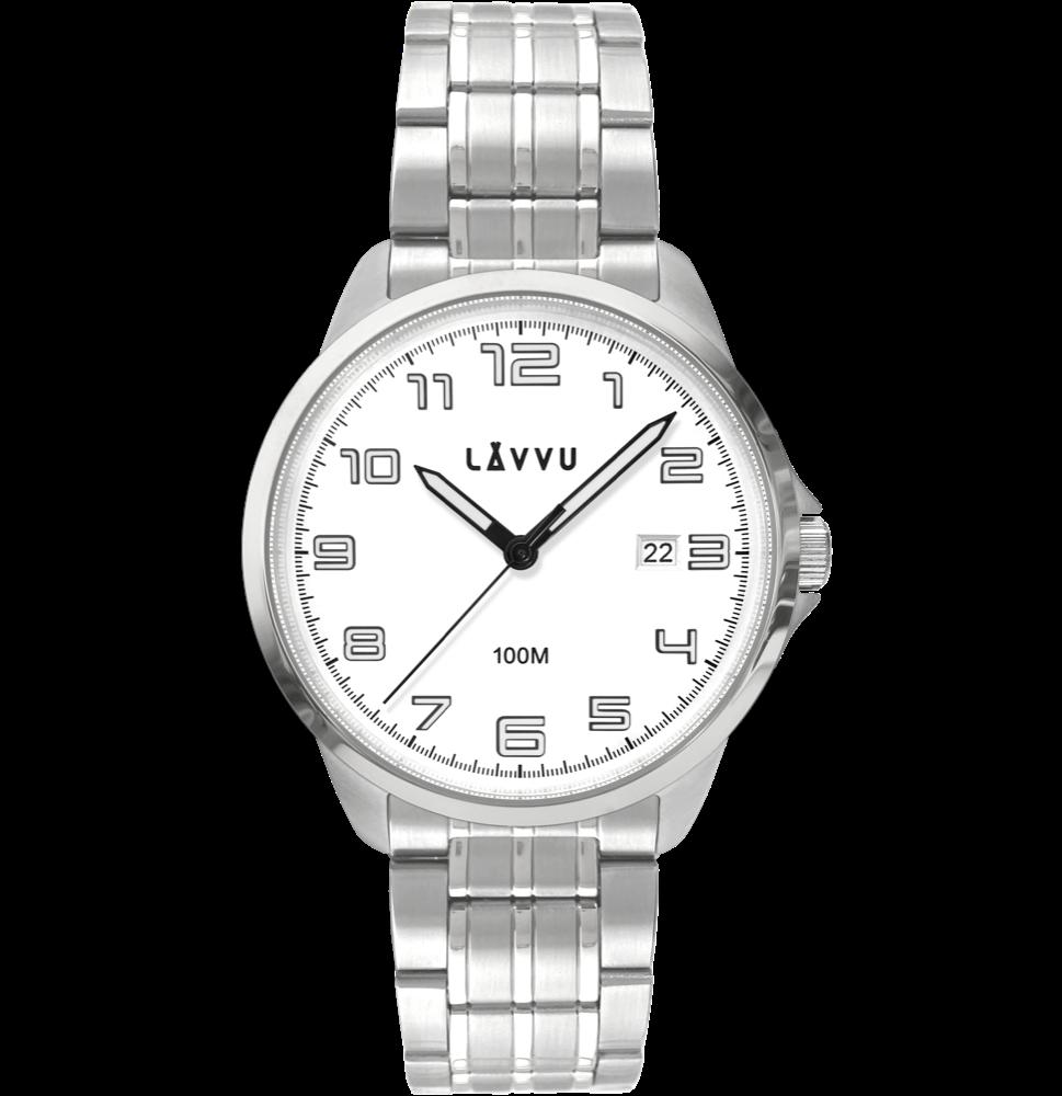 LAVVU Stylové pánské hodinky LAVVU SORENSEN White LWM0200