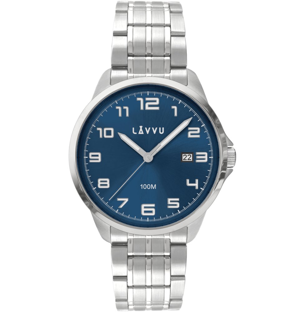 LAVVU Stylové pánské hodinky LAVVU SORENSEN Blue LWM0201