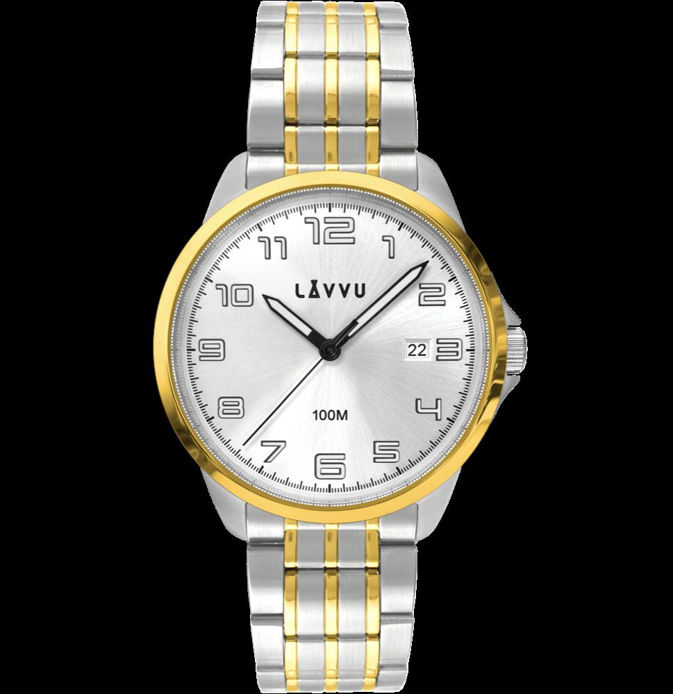 LAVVU Stylové pánské hodinky LAVVU SORENSEN Gold LWM0203